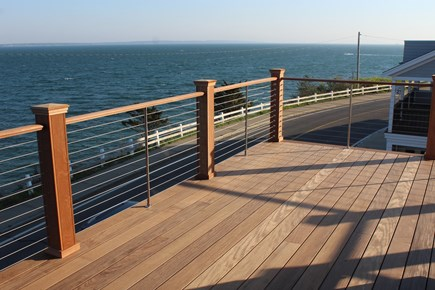 Falmouth Heights Cape Cod vacation rental - View West front new @nd floor deck