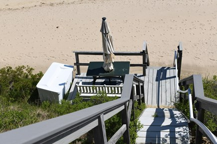 Wellfleet Cape Cod vacation rental - Lower Deck to the Beach