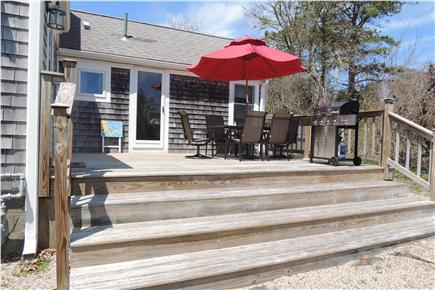 Harwich Port Cape Cod vacation rental - Spacious Deck with Plenty oif Seating & Grille