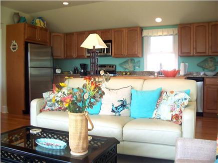West Dennis Cape Cod vacation rental - Lovely open kitchen, living and dining room with ocean views