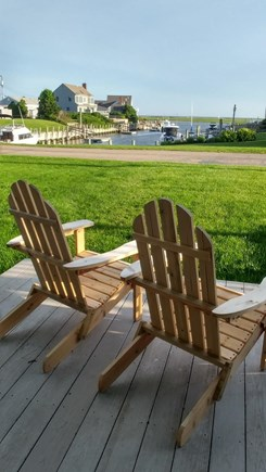 West Dennis Cape Cod vacation rental - Enjoy the ocean view and breeze while you watch the boats go by