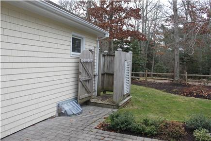 Centerville Centerville vacation rental - Paved patio leading to outdoor shower.