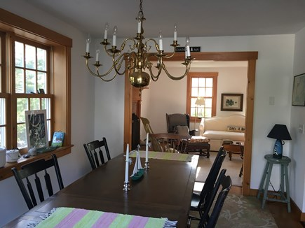 South Chatham Cape Cod vacation rental - Dining area drenched in morning sunlight. Start the day! Seats 8.