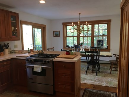South Chatham Cape Cod vacation rental - Open floor plan. Modern custom kitchen,stainless appliances,deck.