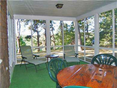 Brewster Cape Cod vacation rental - Large screened porch (12 ft. by 24 ft.)
