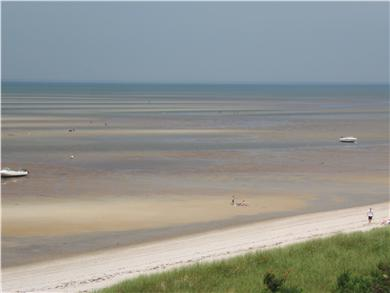 Brewster Cape Cod vacation rental - same beach at low tide : great for sand castles, ballgames etc.
