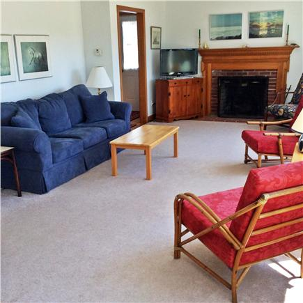 Brewster Cape Cod vacation rental - Spacious living room overlooks a fresh water  pond