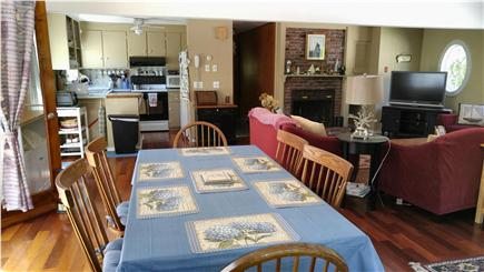 Eastham Cape Cod vacation rental - Kitchen dining & living areas with new TV