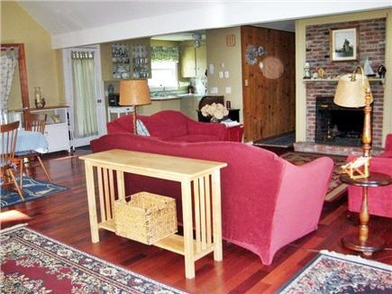 Eastham Cape Cod vacation rental - Great room with fireplace