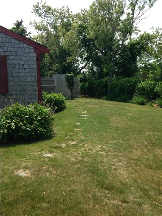 Falmouth Cape Cod vacation rental - Backyard showing the huge outside shower.