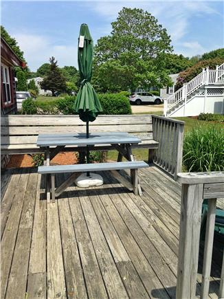 Falmouth Cape Cod vacation rental - Front Deck-plenty of seating.