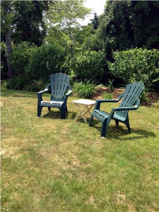 Falmouth Cape Cod vacation rental - Backyard seating.