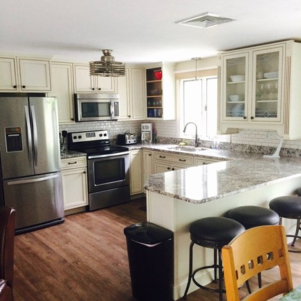 Dennis Cape Cod vacation rental - Updated kitchen w/granite peninsula, well-stocked, DW, ice maker