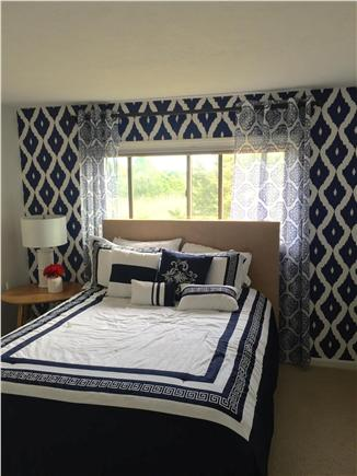 Harwich Port Cape Cod vacation rental - Nautical bedroom with queen-sized bed.