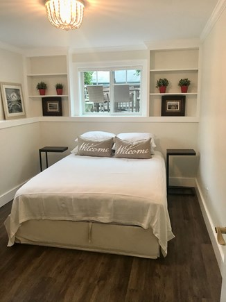 Harwich Port Cape Cod vacation rental - Lower level Queen Bedroom with closet dressers.