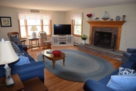 Wellfleet Cape Cod vacation rental - Large open living room. Smart TV. Fireplace, Comfortable seating.