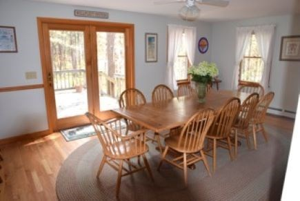 Wellfleet Cape Cod vacation rental - French doors leading out from dinning room to deck.