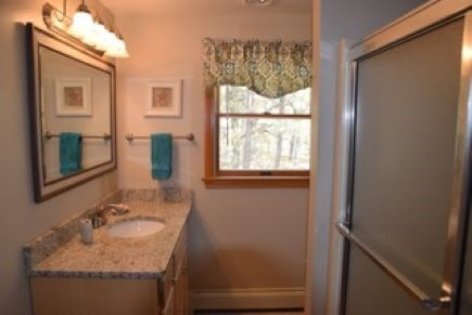 Wellfleet Cape Cod vacation rental - First floor full bath equipped with grab bars.
