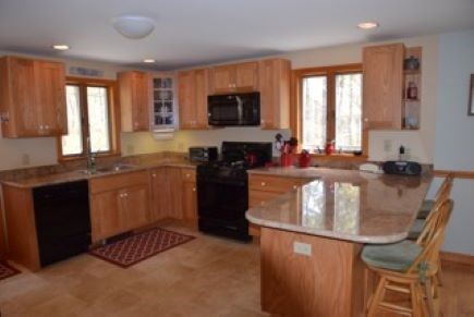 Wellfleet Cape Cod vacation rental - Fully equipped kitchen with granite breakfast bar and seating.
