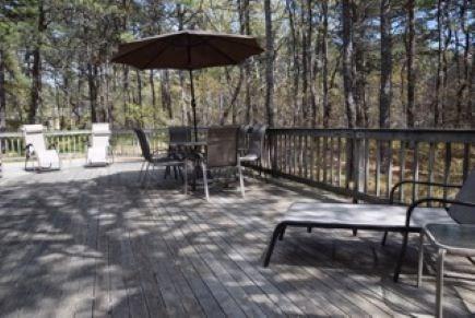 Wellfleet Cape Cod vacation rental - Back deck for relaxing