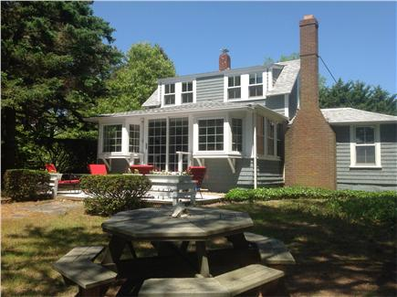 South Wellfleet Cape Cod vacation rental - Front of house, overlooking cove.