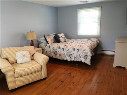 Chatham Cape Cod vacation rental - Queen bedroom with TV & lounge chairs