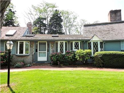 East Orleans Cape Cod vacation rental - Front of home with large private front lawn