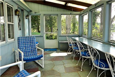 East Orleans Cape Cod vacation rental - Screened porch that looks out to Meeting house pond
