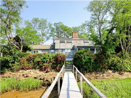 East Orleans Cape Cod vacation rental - View of home from private dock