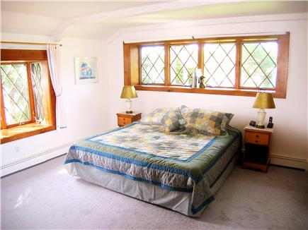East Orleans Cape Cod vacation rental - First floor master bedroom with king bed and a/c unit