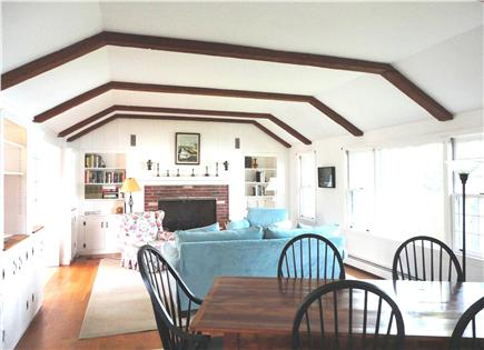 East Orleans Cape Cod vacation rental - Another view of the living room with dining table