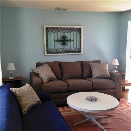 Hyannis Cape Cod vacation rental - Living room - Brand new couch (grey).
