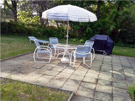 Hyannis Cape Cod vacation rental - Patio furniture with Weber gas grill (and extra spare tank)