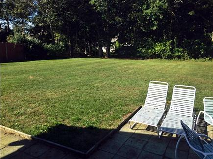 Hyannis Cape Cod vacation rental - Great, large, manicured back yard.
