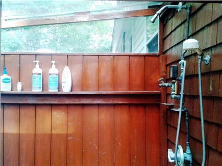Hyannis Cape Cod vacation rental - Outdoor shower, inside.