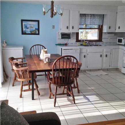 Hyannis Cape Cod vacation rental - Kitchen - semi open plan with LV - very bright and sunny.