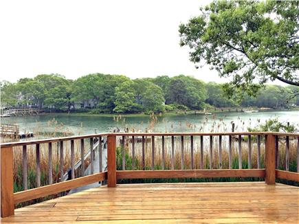 New Seabury, Mashpee New Seabury vacation rental - Deck overlooking canal and Popponesset Island