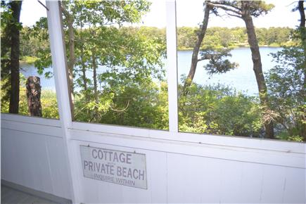 Eastham Cape Cod vacation rental - View of Minister's Pond from screened-in porch
