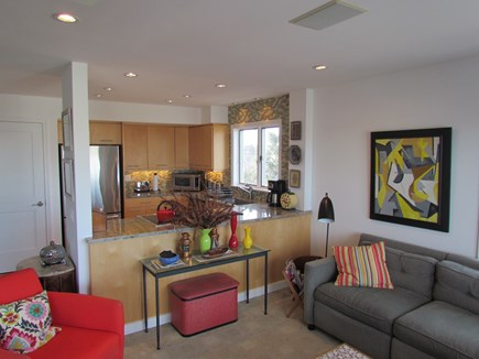 Provincetown Cape Cod vacation rental - Open plan kitchen living and dining