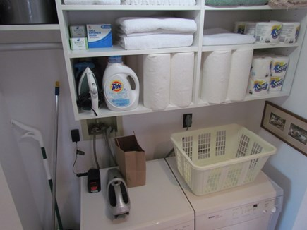 Provincetown Cape Cod vacation rental - Laundry closet
