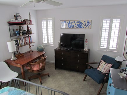 Provincetown Cape Cod vacation rental - Desk and chair in master bedroom