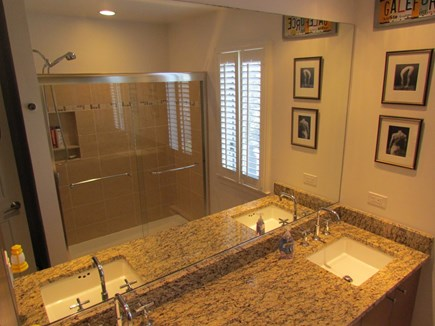 Provincetown Cape Cod vacation rental - Master Bath (has over size shower, no tub.