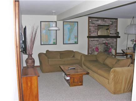 Chatham, Ridgevale Cape Cod vacation rental - Second family room with large, internet ready flat screen TV