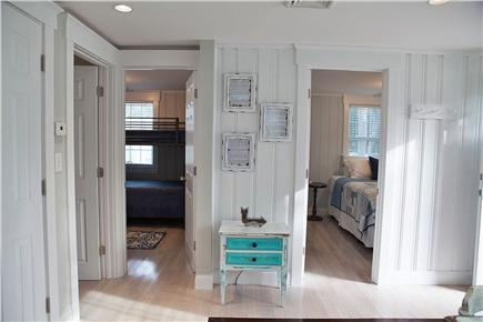West Yarmouth Cape Cod vacation rental - View of entrances to two bedrooms.