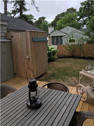 Dennisport Cape Cod vacation rental - Deck and outdoor shower
