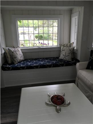 Dennisport Cape Cod vacation rental - Window seat in Living room
