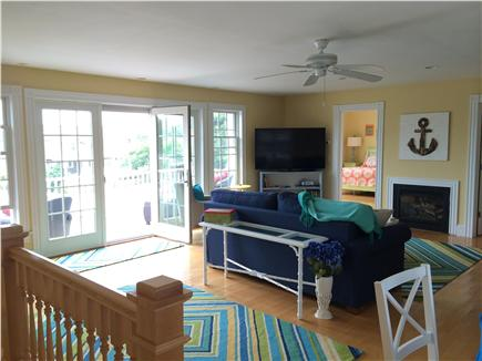 West Yarmouth Cape Cod vacation rental - 2nd floor family room with balcony, connects to 3 bedrooms,