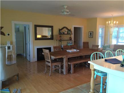 West Yarmouth Cape Cod vacation rental - Kitchen/dining room, with sitting area, study desk, very bright!
