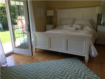 West Yarmouth Cape Cod vacation rental - Master bedroom on 1st floor w/ jacuzzi bathtub & separate shower