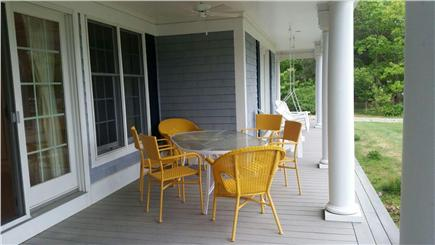 West Yarmouth Cape Cod vacation rental - Al fresco dining on the front porch